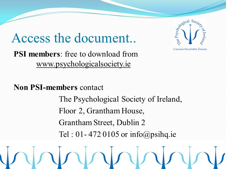 Access the document..