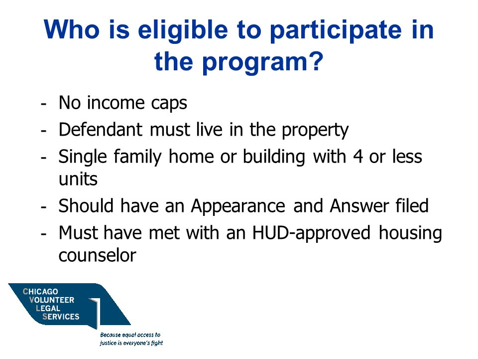 Who is eligible to participate in the program.