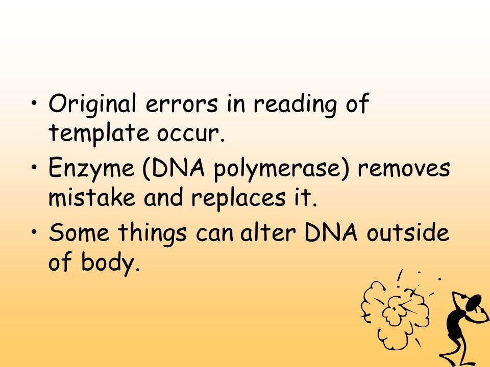Original errors in reading of template occur.