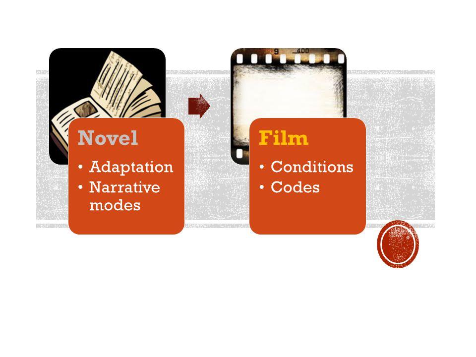 Novel Adaptation Narrative modes Film Conditions Codes