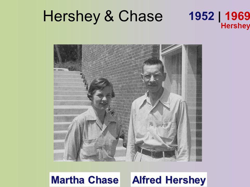 Hershey & Chase Alfred Hershey Martha Chase 1952 | 1969 Hershey