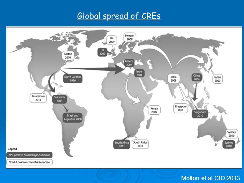 Molton et al CID 2013 Global spread of CREs