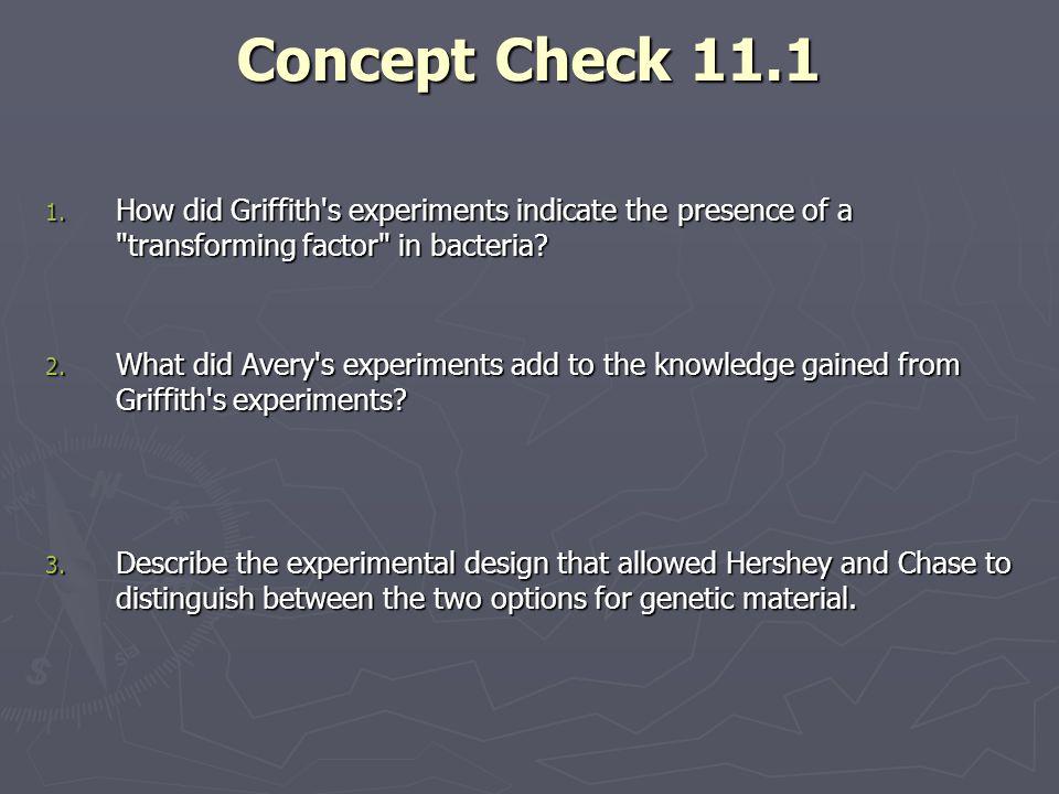 Concept Check 11.1 1.