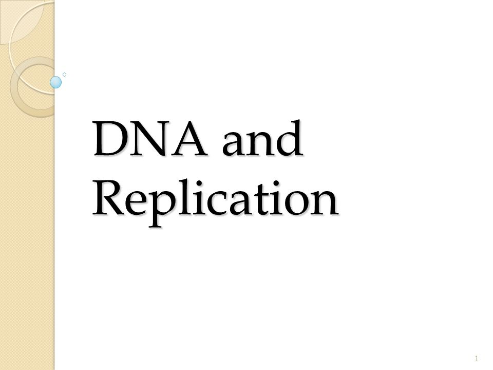 DNA and Replication 1