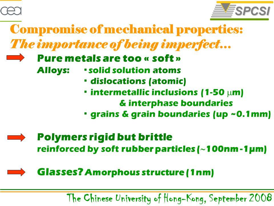 Composite material: epoxy matrix, graphite fibers (Columbia University) The Chinese University of Hong-Kong, September 2008