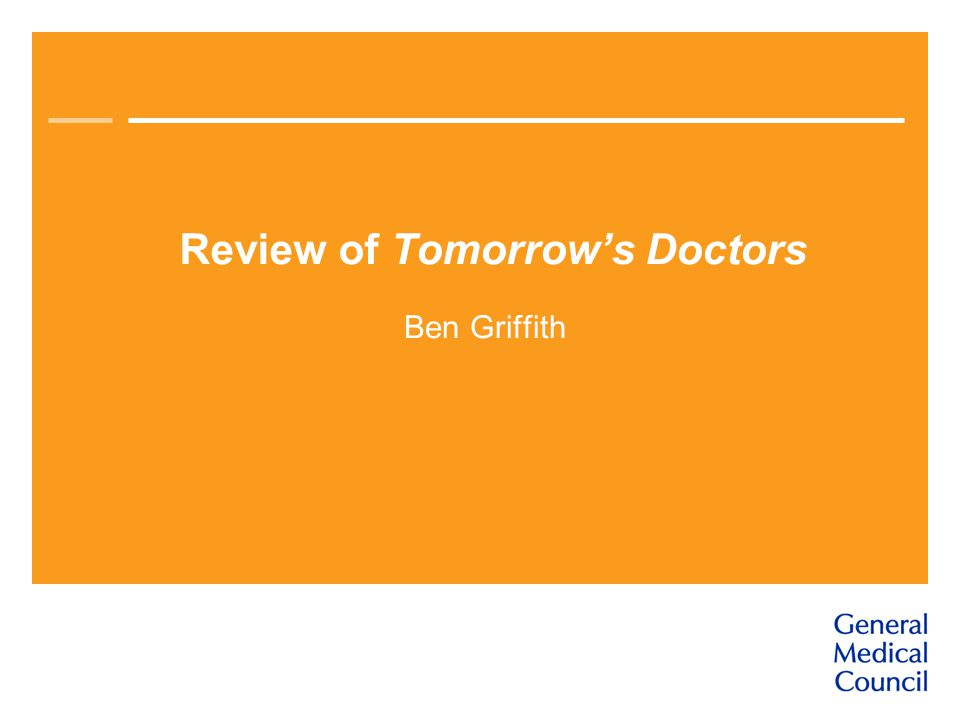Review of Tomorrow's Doctors Ben Griffith