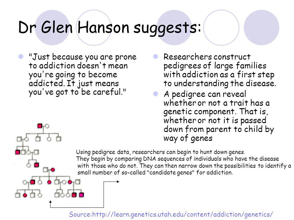 Dr Glen Hanson suggests: