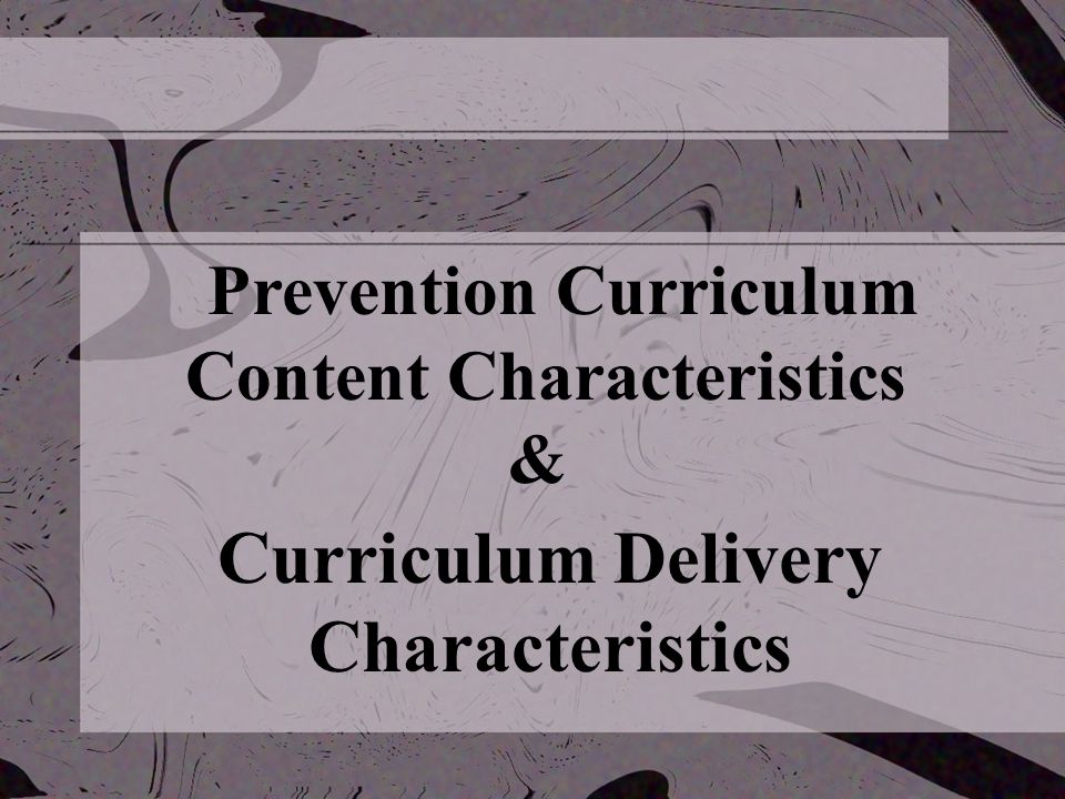 Voluntary State Curriculum Weaves the skills from the National Standards into seven content standards Curricular framework Content standards: broad, measurable statements about what students should know and be able to do.