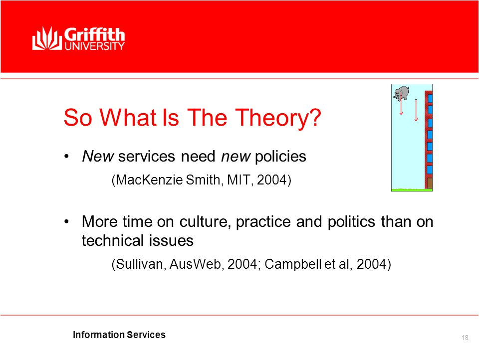 Information Services 18 So What Is The Theory.