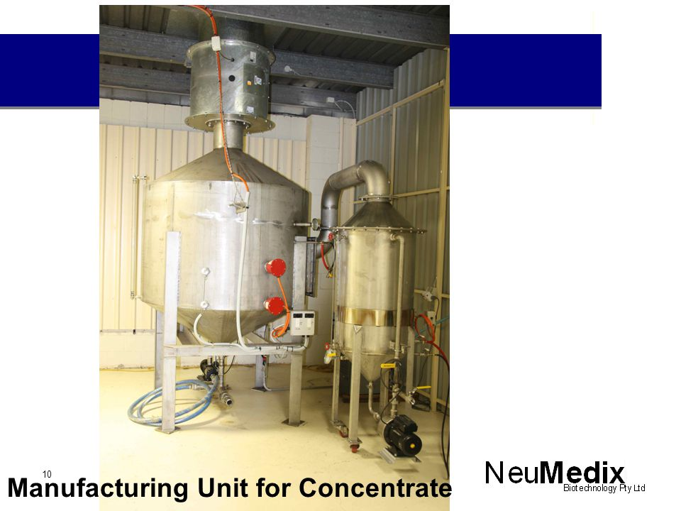Manufacturing Unit for Concentrate 10