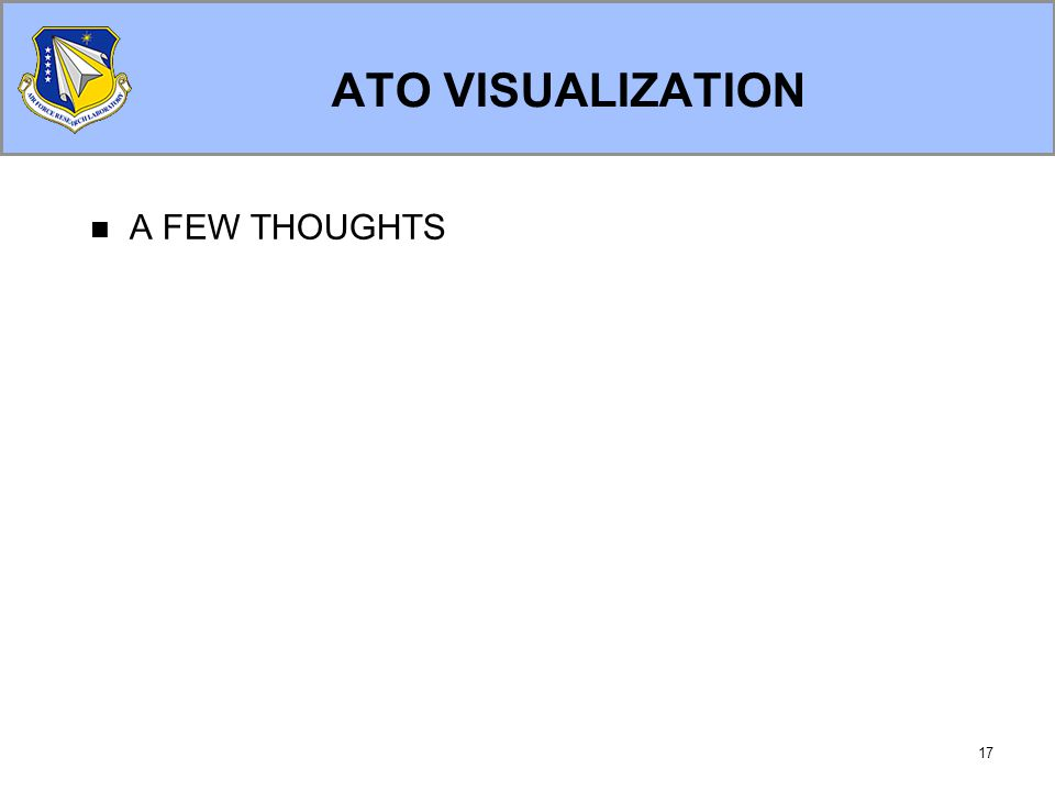 17 ATO VISUALIZATION A FEW THOUGHTS