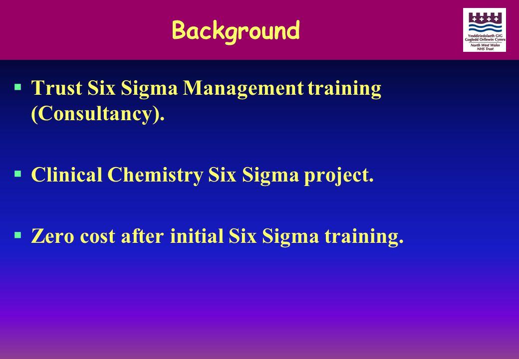 Background  Trust Six Sigma Management training (Consultancy).