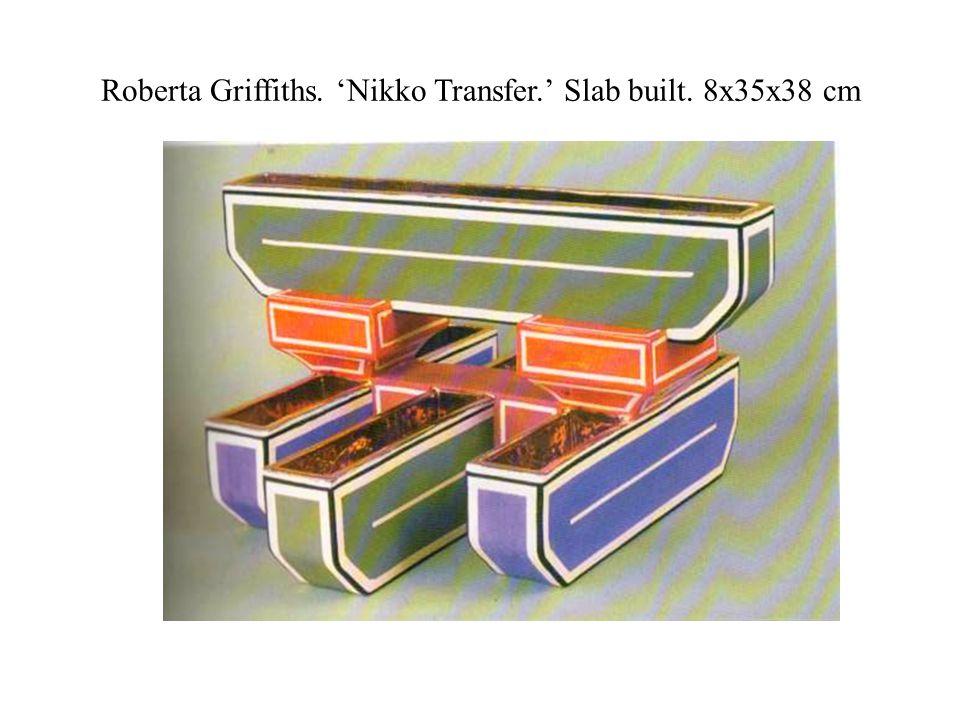 Roberta Griffiths. 'Nikko Transfer.' Slab built. 8x35x38 cm