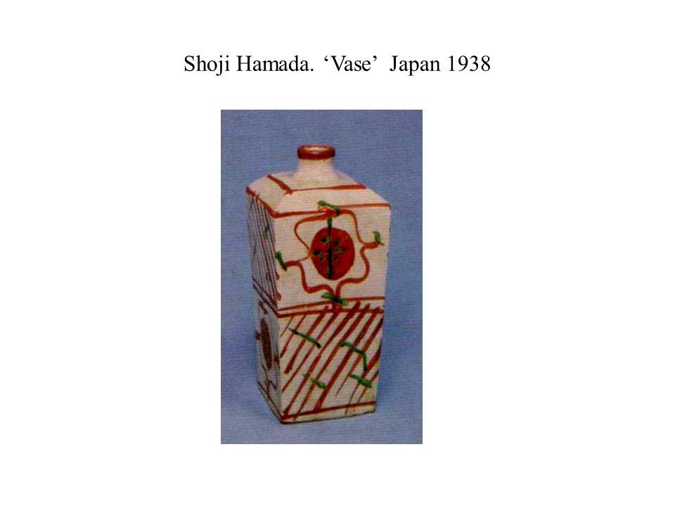 Shoji Hamada. 'Vase' Japan 1938