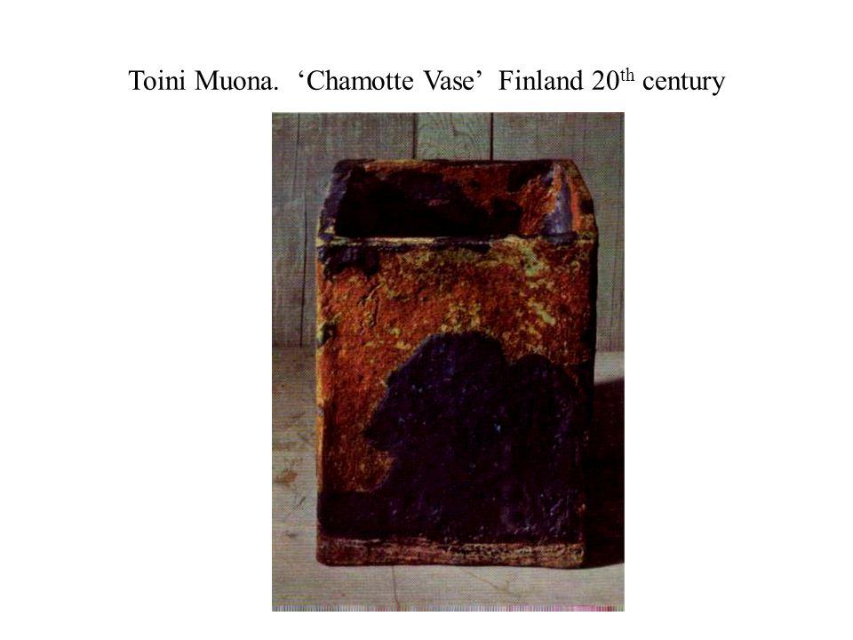 Toini Muona. 'Chamotte Vase' Finland 20 th century