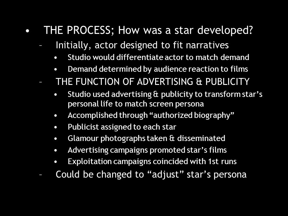 THE PROCESS; How was a star developed.