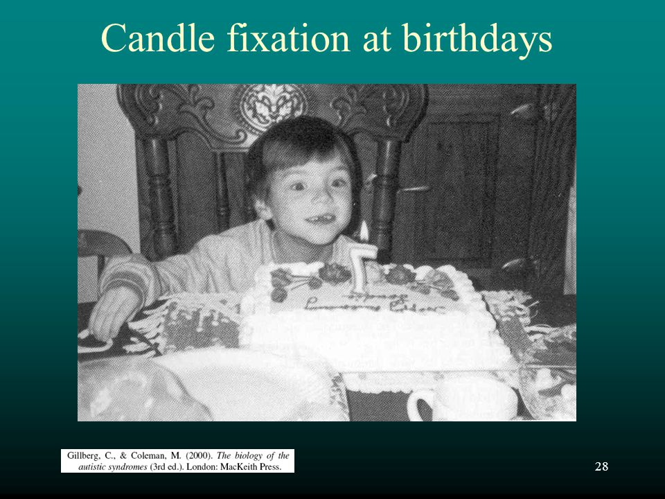 28 Candle fixation at birthdays