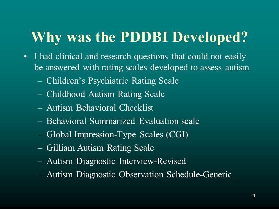 25 Diagnostic History of PDD DSM III (1980) –Pervasive Developmental Disorder Infantile Autism Childhood Onset Pervasive Developmental Disorder Atypical Pervasive Developmental Disorder DSM III-R (1987) –Pervasive Developmental Disorder Autistic Disorder Pervasive Developmental Disorder - NOS