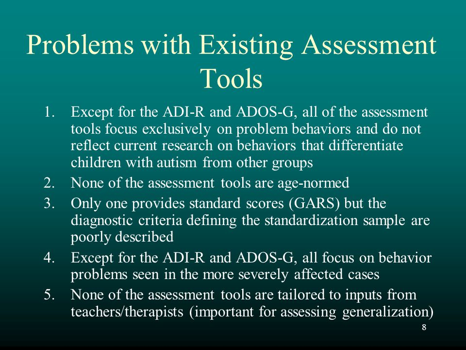 99 PDDBI Profiles For clinical and research purposes, it is important to examine the overall profile of scores, as well as the magnitude of the composite scores, for both parent and teacher observations Such profiles can provide important information about the child, and identify behaviorally-defined sub-groups Remember that the PDDBI is standardized on an autism sample.