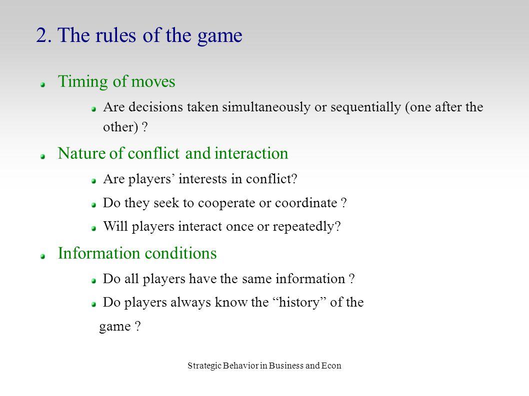 Strategic Behavior in Business and Econ 2.