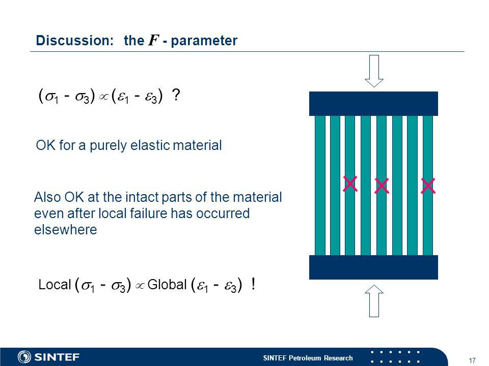 SINTEF Petroleum Research 17 (  1 -  3 )  (  1 -  3 ) .