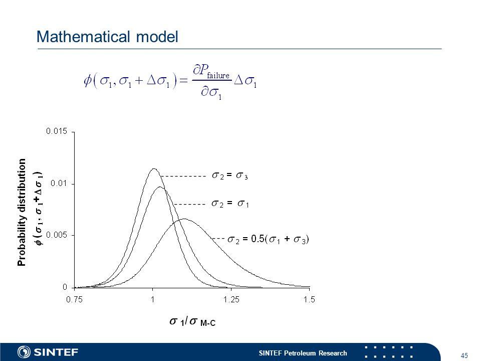 SINTEF Petroleum Research 45 Mathematical model