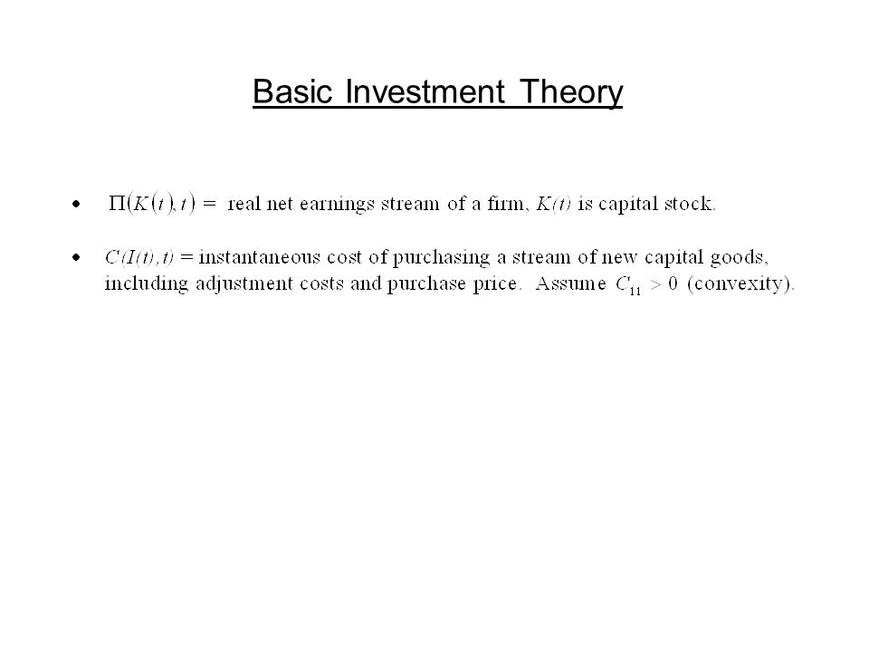 Basic Investment Theory