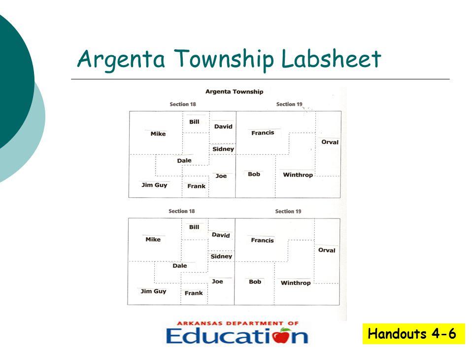 Argenta Township Labsheet Handouts 4-6