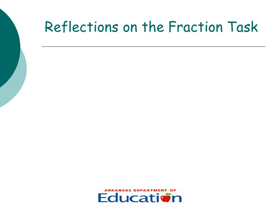 Reflections on the Fraction Task