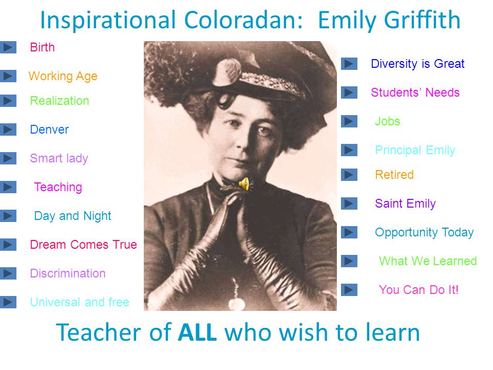 Emily's Dream made Denver… The first city in the world… With free universal adult education!!!