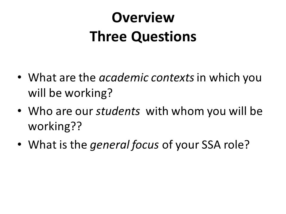 What are the academic contexts in which you will be working? Four Academic Groups