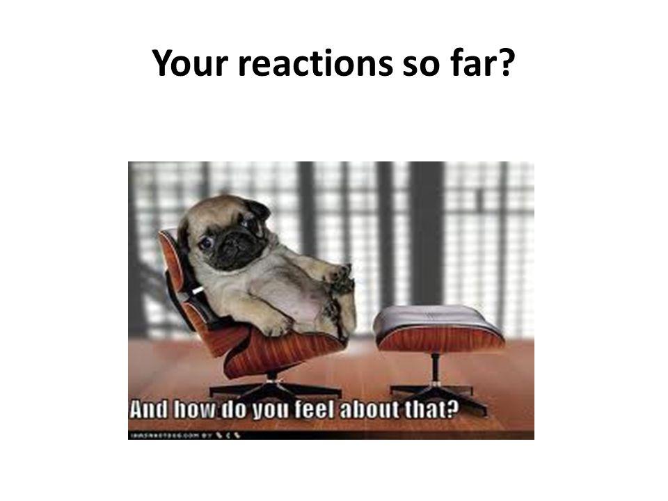 Your reactions so far