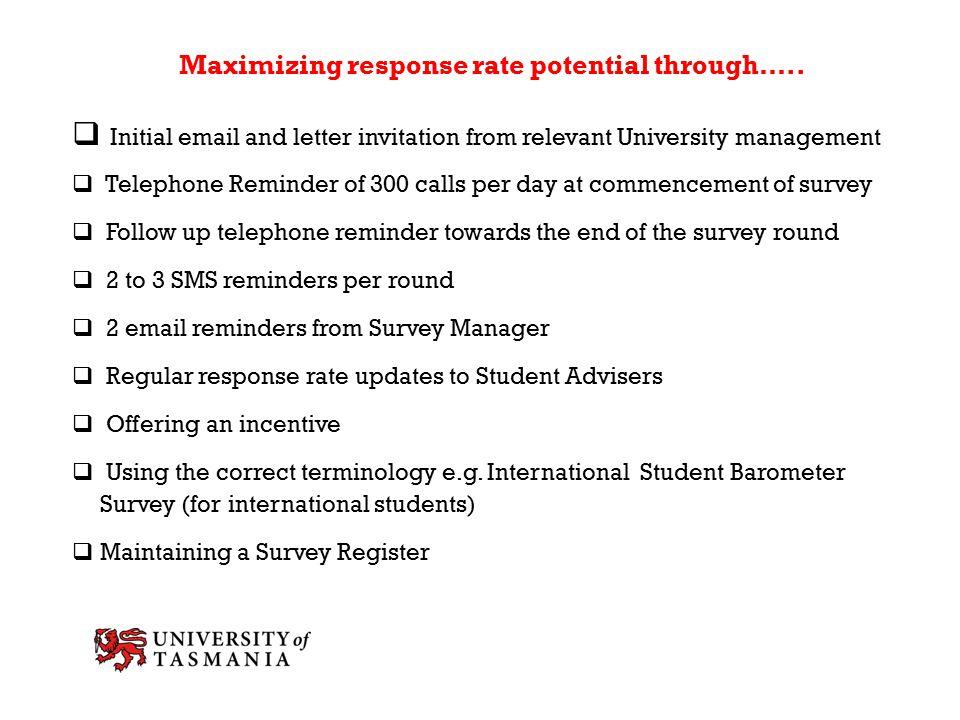 Maximizing response rate potential through…..