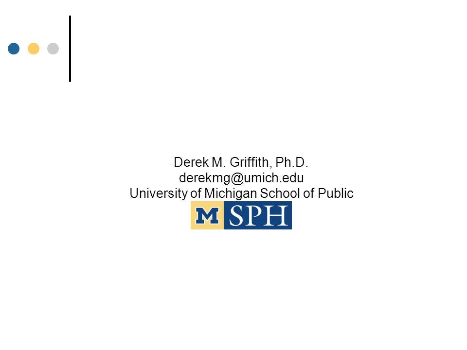 Poverty Thresholds 2006 (Use landscape & legal printer options to print this table) Derek M. Griffith, Ph.D. derekmg@umich.edu University of Michigan