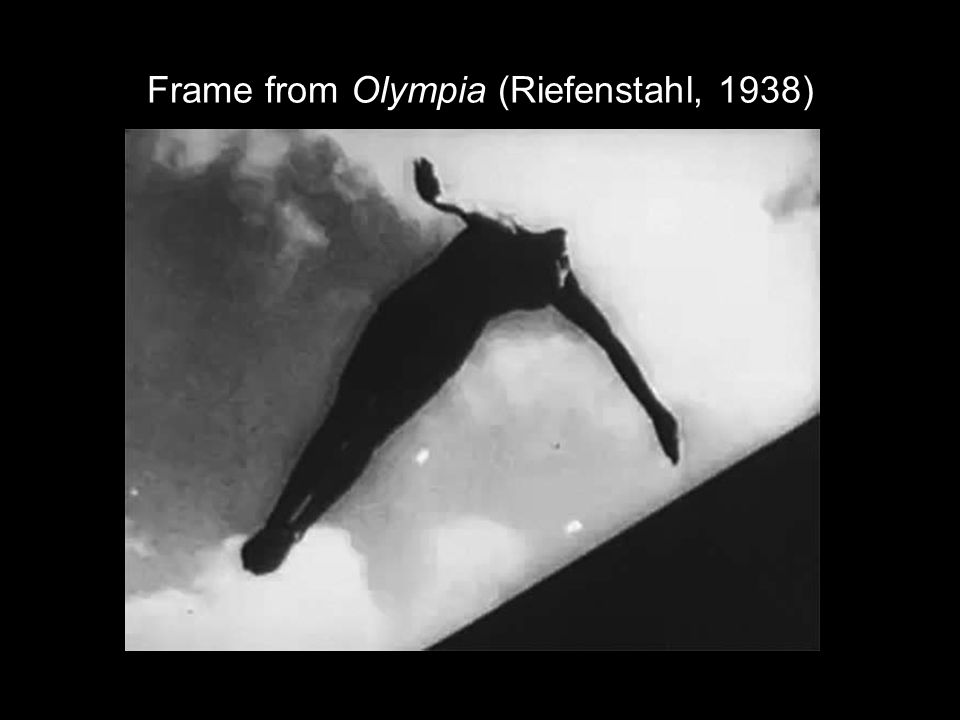 Frame from Olympia (Riefenstahl, 1938)