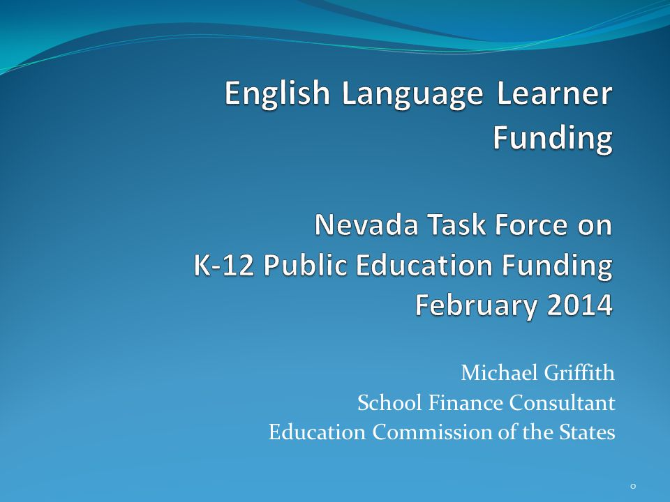 Michael Griffith School Finance Consultant Education Commission of the States 0