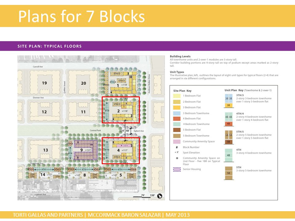 TORTI GALLAS AND PARTNERS | MCCORMACK BARON SALAZAR | MAY 2013 Plans for 7 Blocks