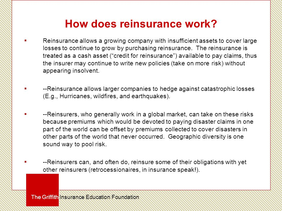 How does reinsurance work.