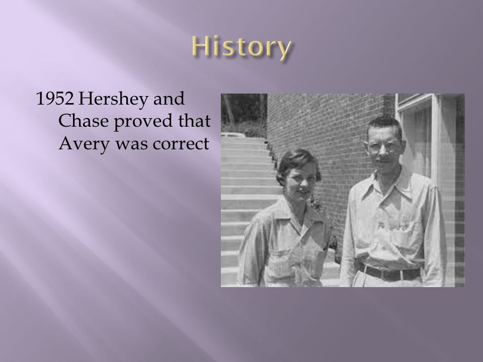 1952 Hershey and Chase proved that Avery was correct