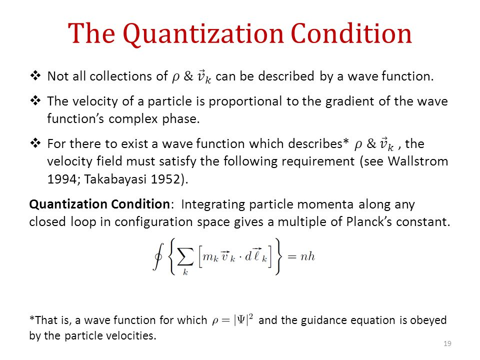 The Quantization Condition 19