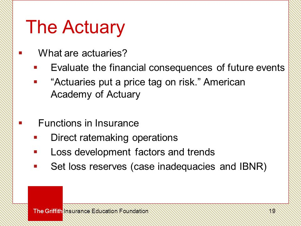 The Actuary  What are actuaries.