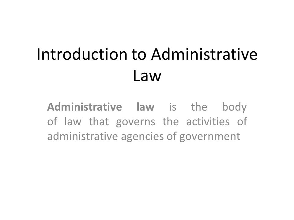 Definition of Administrative Law Many jurist have attempted to characterize it, but none of the definitions has completely define the nature, scope and contents of Administrative Law