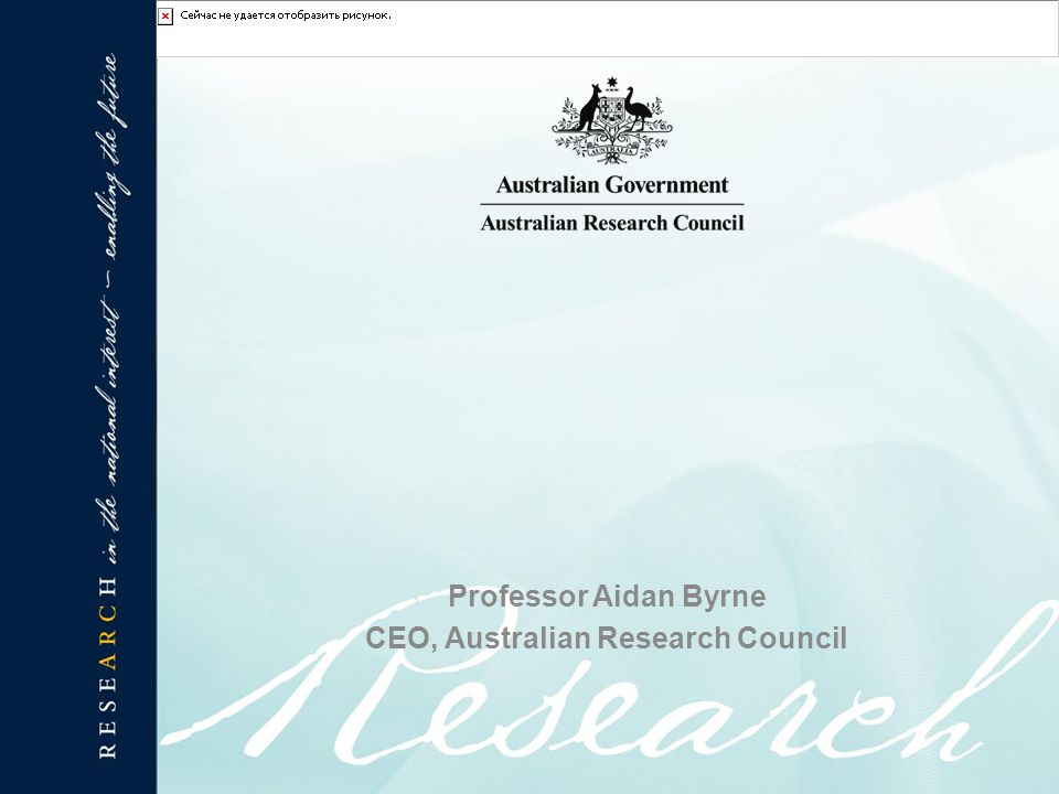 Professor Aidan Byrne CEO, Australian Research Council
