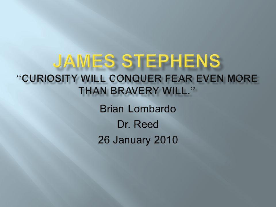 Brian Lombardo Dr. Reed 26 January 2010