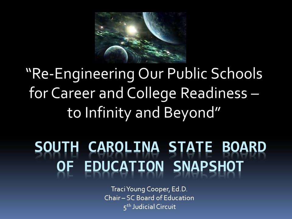 Traci Young Cooper, Ed.D. Chair – SC Board of Education 5 th Judicial Circuit