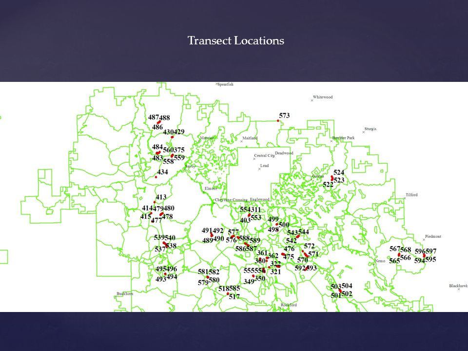 Transect Locations