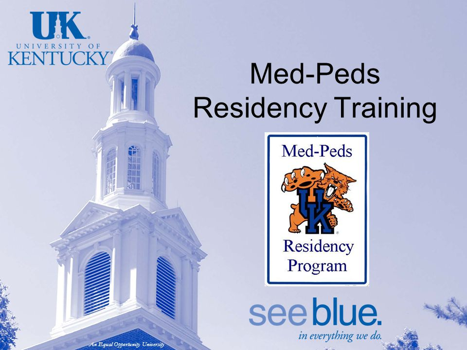 An Equal Opportunity University Med-Peds Residency Training