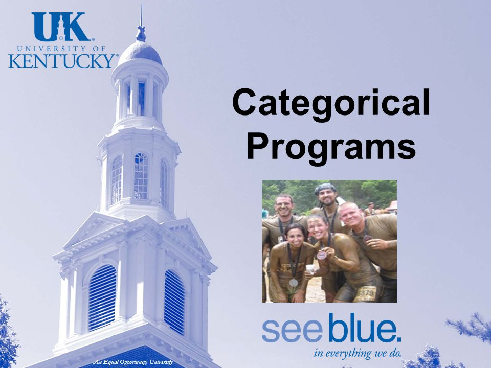An Equal Opportunity University Categorical Programs