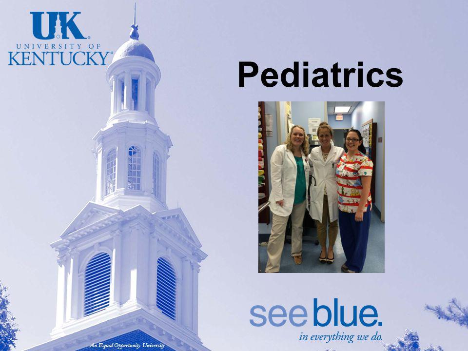 An Equal Opportunity University Pediatrics