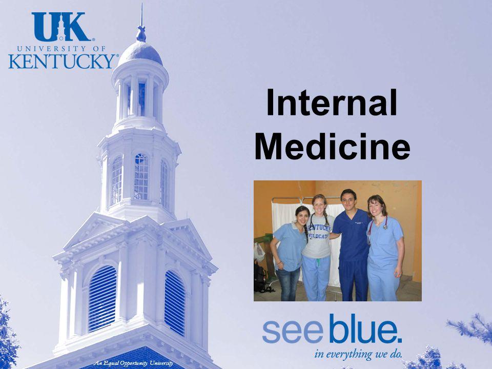 An Equal Opportunity University Internal Medicine